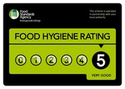 Eat Square have a 5 start hygene rating